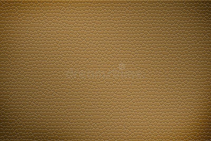 Textura del fondo del cuero del marrón amarillo ilustración del vector