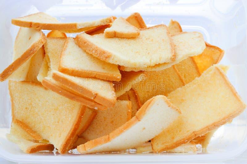 Textura del fondo del pan de la tostada de la rebanada foto de archivo libre de regalías
