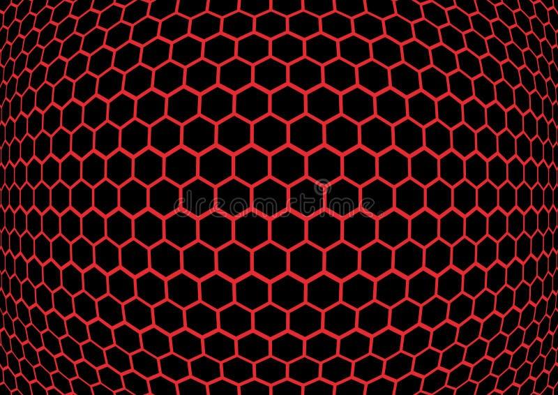 Textura del fondo del panal stock de ilustración
