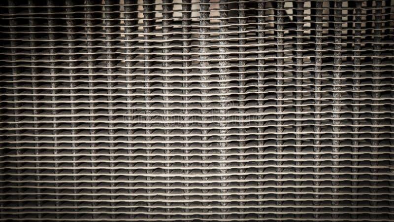 Textura del fondo del radiador del vintage foto de archivo