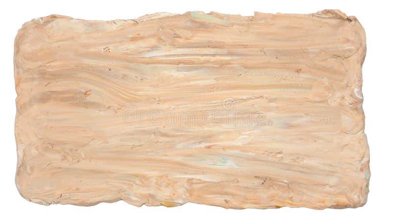 Textura del fondo o arte abstracto del marco del arte de la mano de la arcilla del molde stock de ilustración
