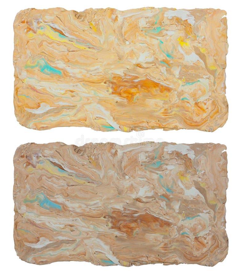 Textura del fondo o arte abstracto del marco del arte de la mano de la arcilla del molde ilustración del vector
