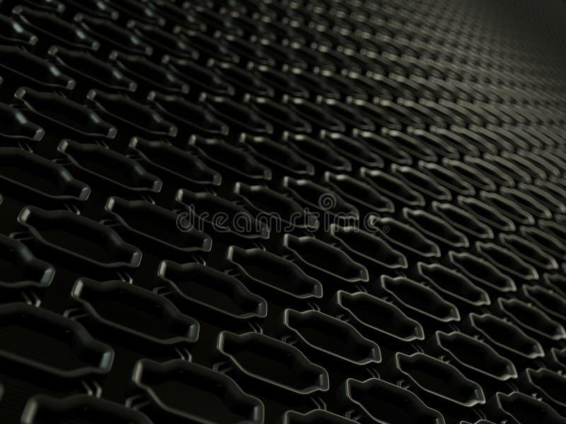 Textura del fondo del primer de la parrilla de radiador del coche libre illustration