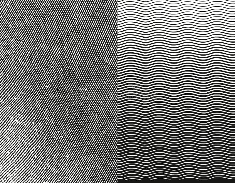Textura del grabado. Ilustración del vector libre illustration
