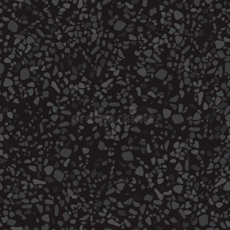Textura del grano de la carretera de asfalto ilustración del vector