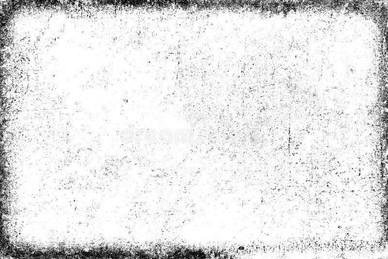 Textura del Grunge blanco y negro Modelo de los microprocesadores, grietas, desgastes libre illustration