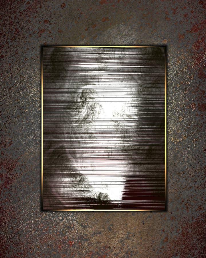 Textura del Grunge con la muestra abstracta Plantilla para el diseño copie el espacio para el folleto del anuncio o la invitación libre illustration