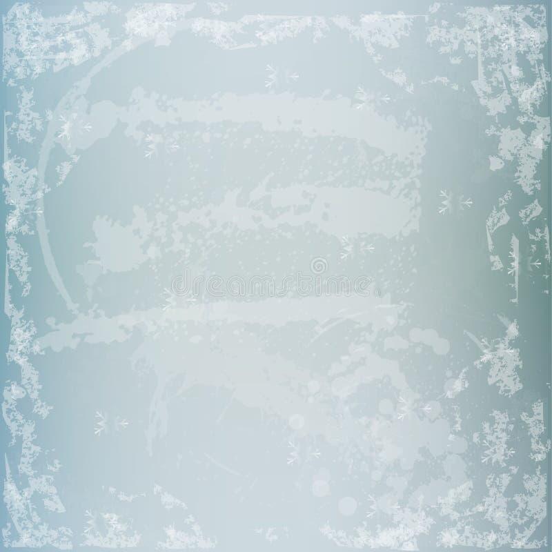 Textura del grunge del invierno con las escamas stock de ilustración