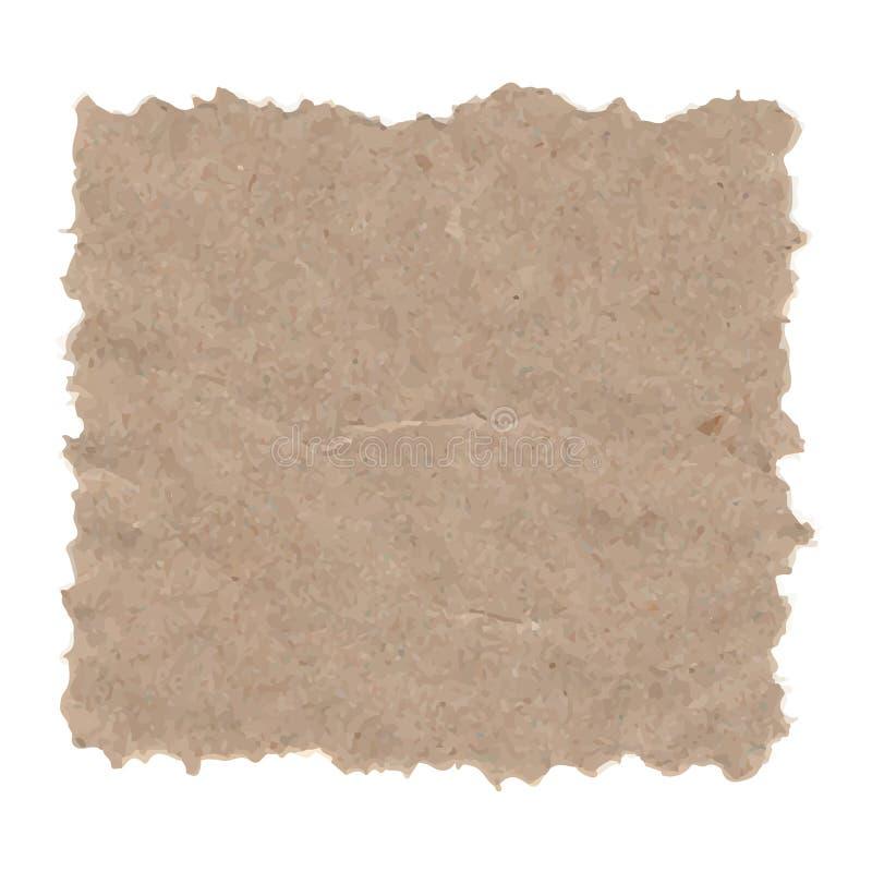 Textura del grunge del vector del papel reciclado ilustración del vector