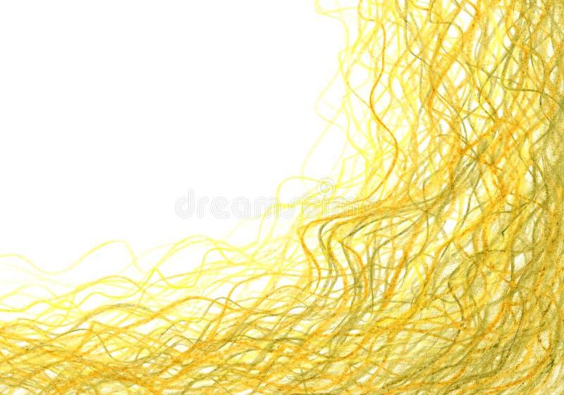 Textura del Grunge, fondo del carbón de leña, marco amarillo del lápiz imagen de archivo libre de regalías