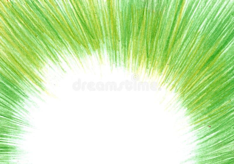 Textura del Grunge, fondo del carbón de leña, marco verde del lápiz fotografía de archivo