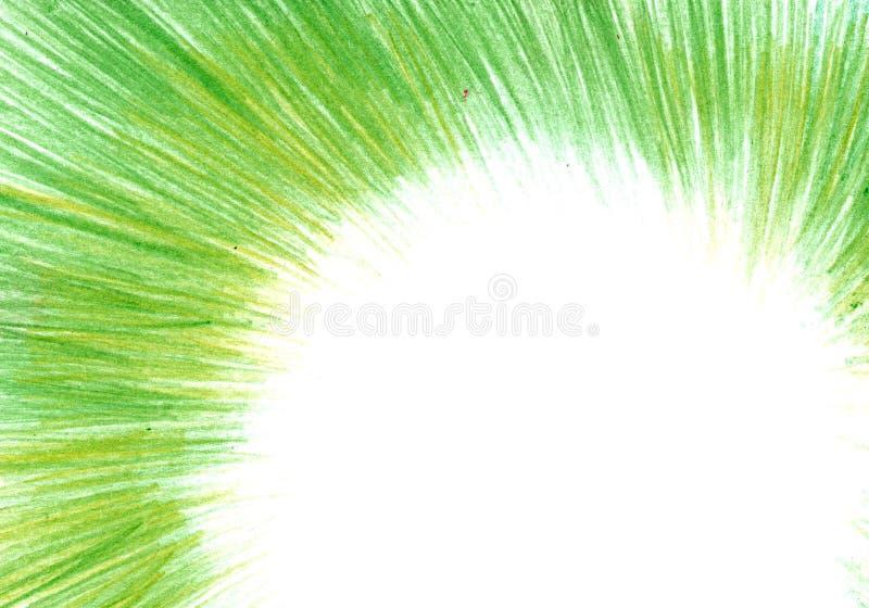 Textura del Grunge, fondo del carbón de leña, marco verde del lápiz foto de archivo libre de regalías
