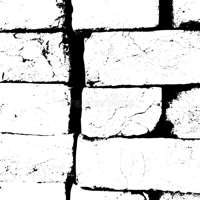Textura del grunge del vector de la pared, del ladrillo y del cemento abstraiga el fondo stock de ilustración