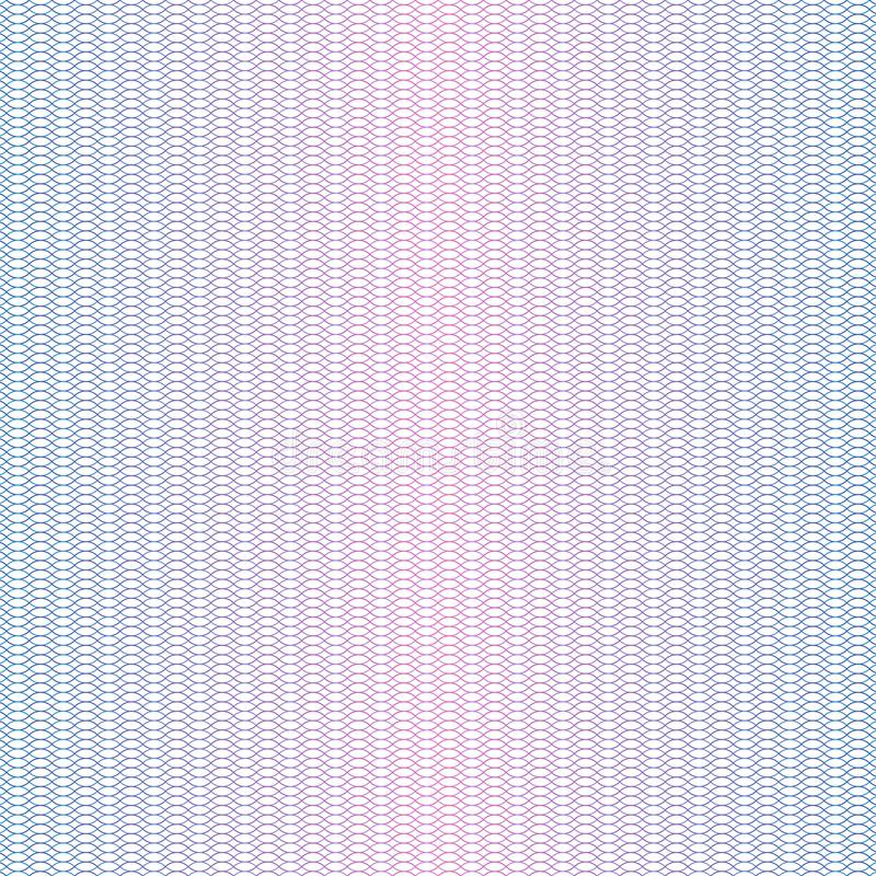 Textura del guilloquis Filigrana del certificado del dinero del pasaporte del guilloquis, elemento ondulado del billete de banco  libre illustration