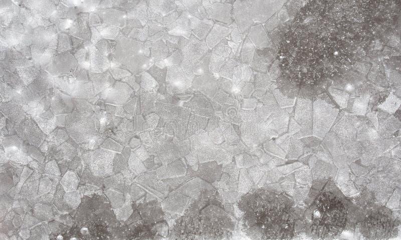 Textura del hielo imagenes de archivo