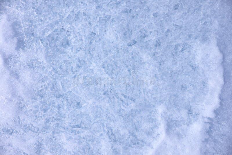 Textura del hielo y de la nieve imagen de archivo libre de regalías