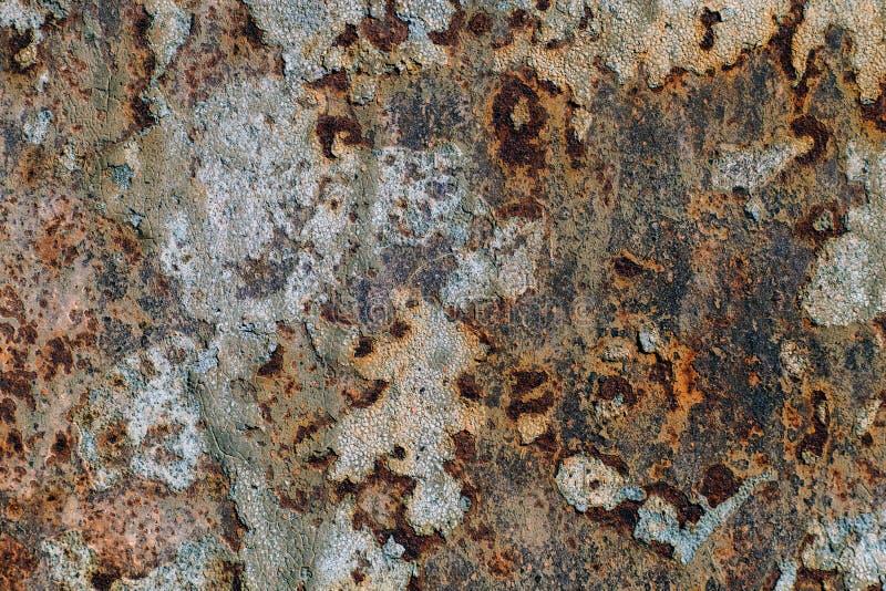 Textura Del Hierro Oxidado, Pintura Agrietada En Una Vieja ...