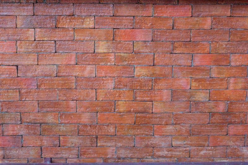 Textura del ladrillo rojo del Grunge imagen de archivo
