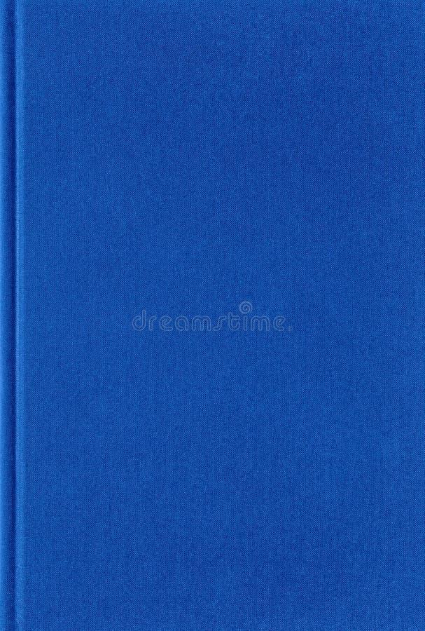 Textura del libro azul, arreglo vertical, cubierta de tela fotos de archivo