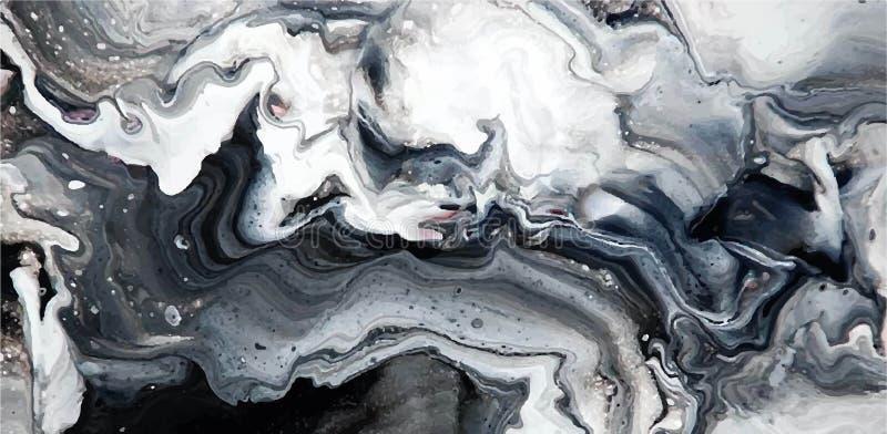 Textura del mármol de Abstact Puede ser utilizado para el fondo o el papel pintado stock de ilustración