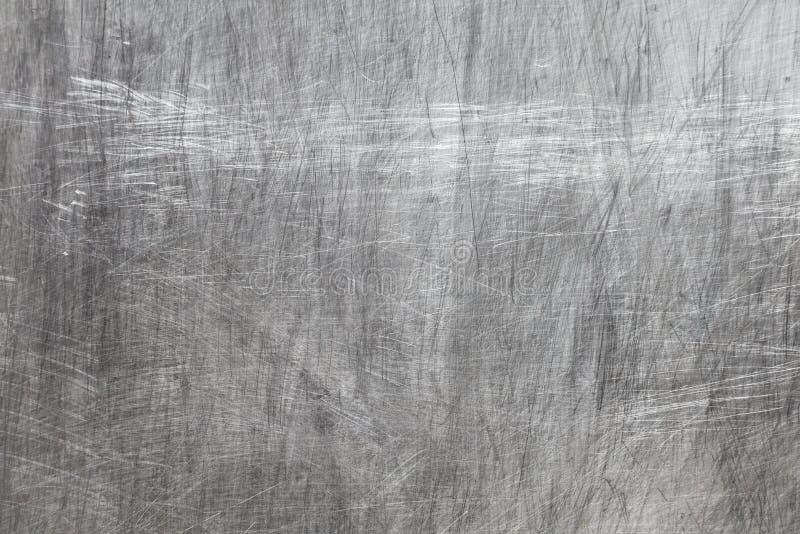 Textura del metal con los rasguños foto de archivo libre de regalías