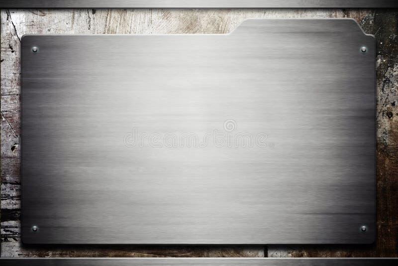 Textura del metal de Grunge stock de ilustración
