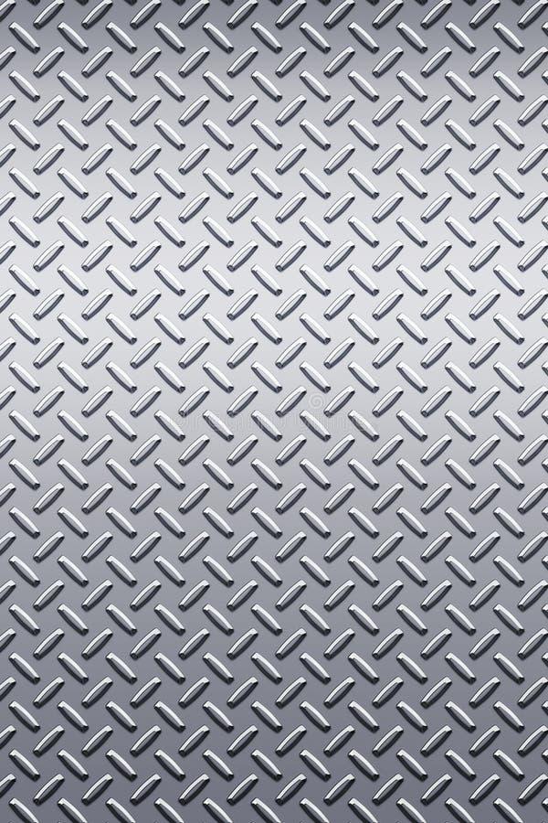 Textura del metal de la placa del diamante stock de ilustración