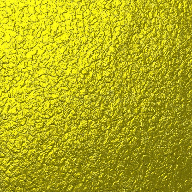 Textura del metal del oro de la roca libre illustration