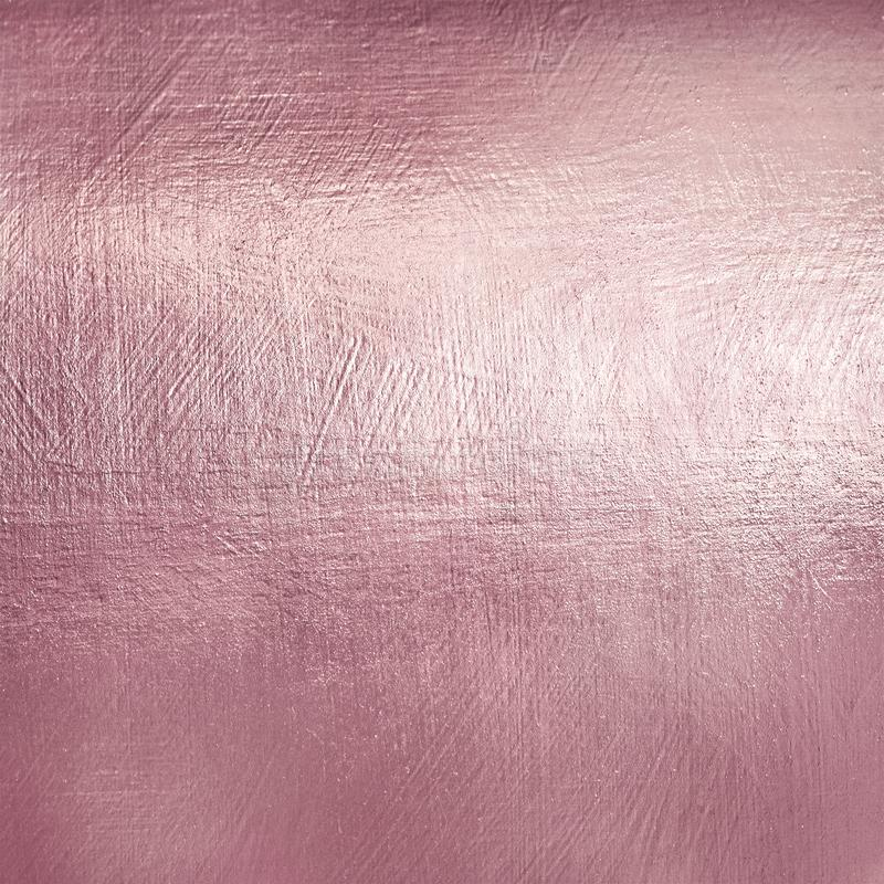 Textura del metal del oro de Rose Fondo suave de la hoja de Luxure fotografía de archivo