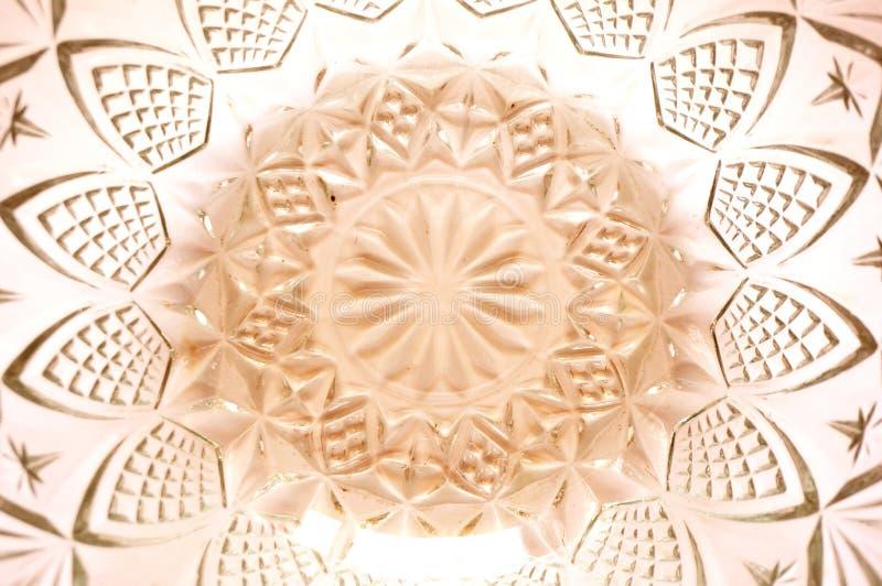 Textura del modelo del enrejado de la flor en el cuenco cristalino imagen de archivo libre de regalías