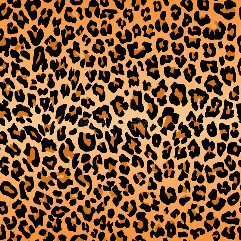 Textura del modelo del leopardo que repite la piel negra anaranjada inconsútil de la impresión de la piel foto de archivo libre de regalías