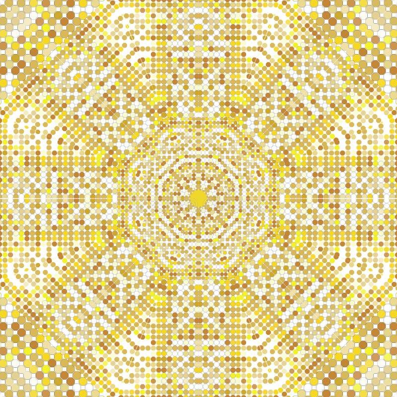 Textura del modelo del oro con los mosaicos de oro en el estilo bizantino/el mosaico de la antigüedad/las tejas de mosaico en est libre illustration