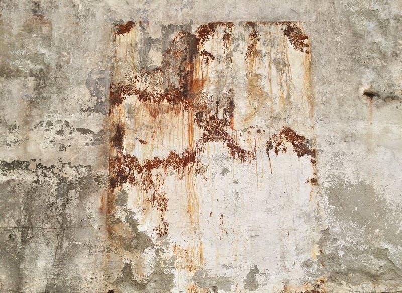 Textura del muro de cemento arruinada manchada foto de archivo