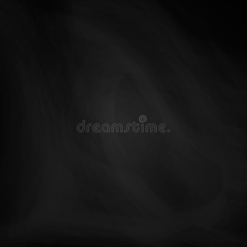 Textura del negro de la pizarra fondo para una bandera en el tema de la educación y del menú de la escuela o del restaurante Ilus stock de ilustración