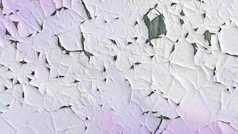 Textura del púrpura y blanca de la grieta del fondo ilustración del vector
