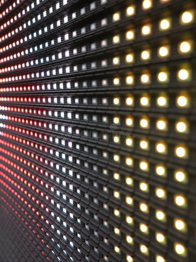 Textura del panel de la pantalla del RGB LED foto de archivo libre de regalías