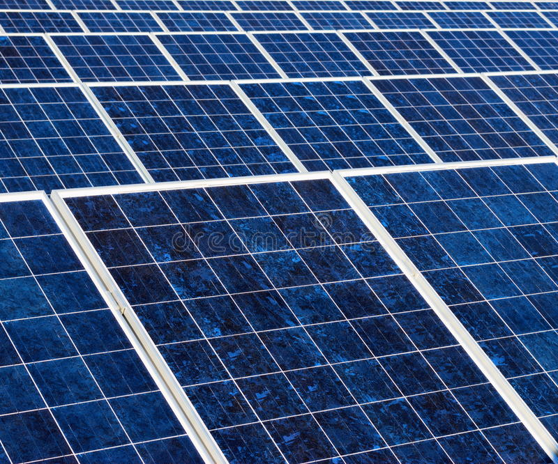 Textura del panel solar imágenes de archivo libres de regalías
