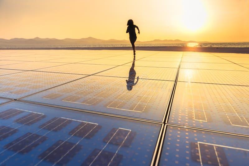 Textura del panel solar fotos de archivo