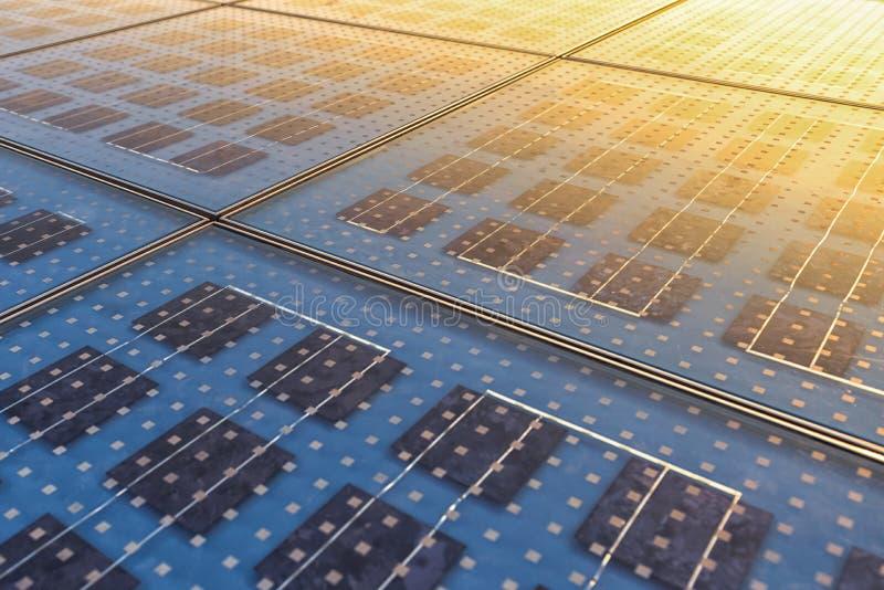Textura del panel solar fotografía de archivo