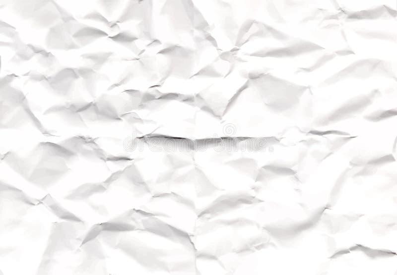 Textura del papel arrugado que remonta del papel real stock de ilustración