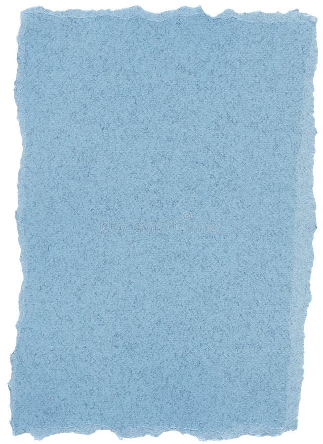 Textura del papel de la fibra - azul en colores pastel con los bordes rasgados imágenes de archivo libres de regalías