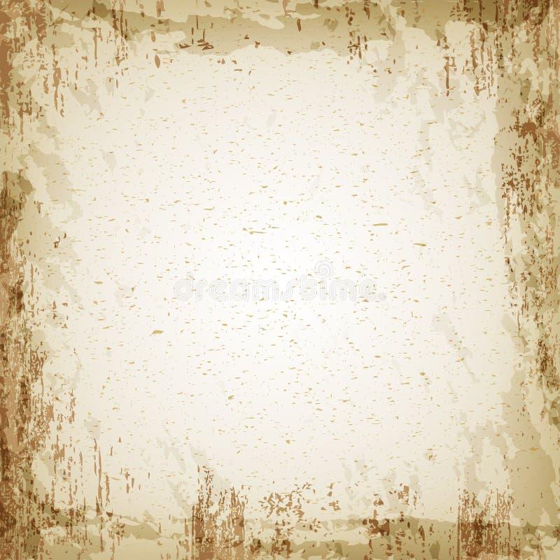 Textura del papel del vintage del Grunge, fondo del vector stock de ilustración