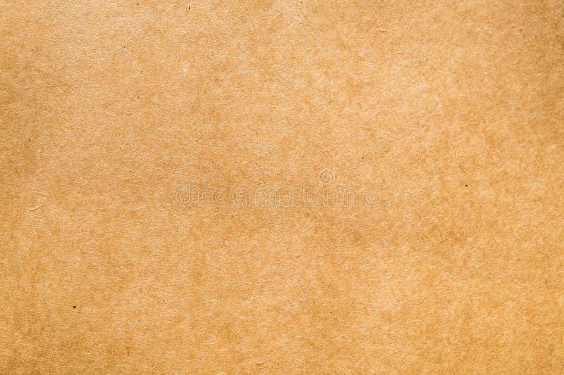 Textura del papel marrón del vintage hecha de la fibra natural para la oficina u fotografía de archivo libre de regalías