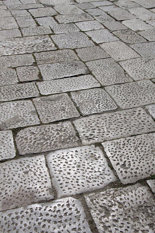 Textura del pavimento hecha de los bloques de piedra imagen de archivo