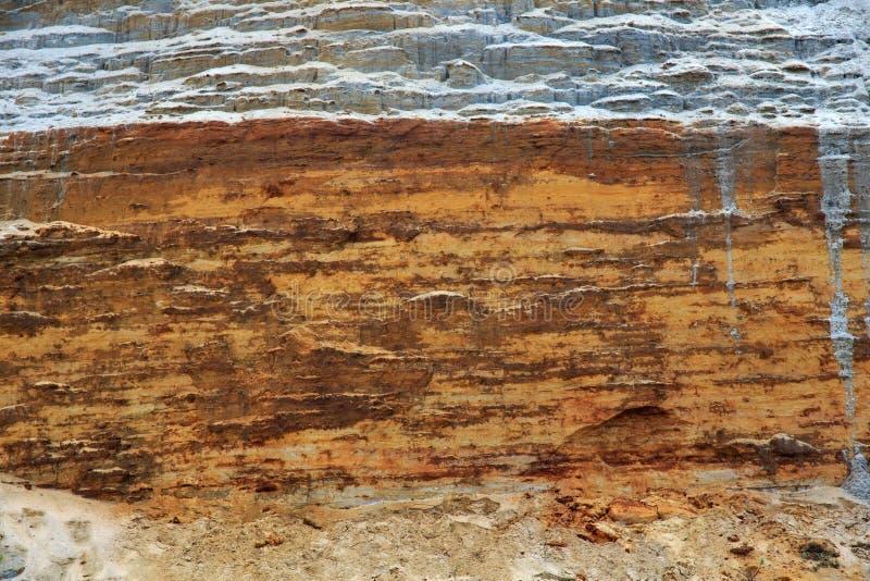 Textura del peñasco arcillo-arenoso fotografía de archivo libre de regalías