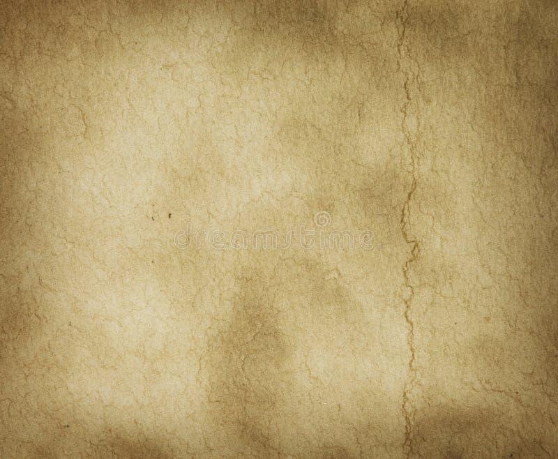Textura del pergamino con la marca del pliegue fotografía de archivo libre de regalías