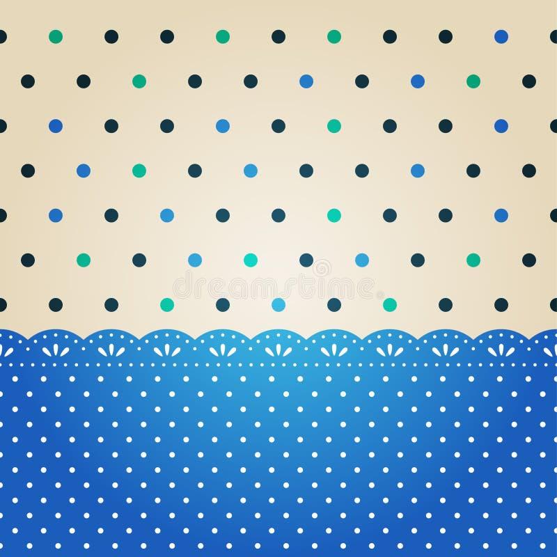 Textura del punto de polca stock de ilustración