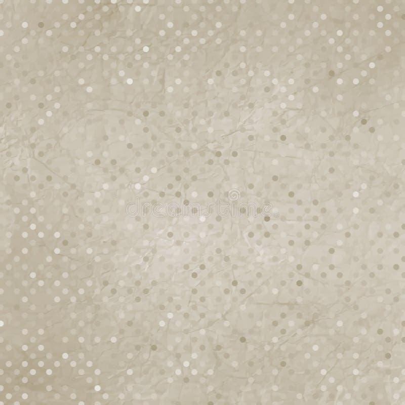 Textura del punto de polca de la vendimia. EPS 8 stock de ilustración