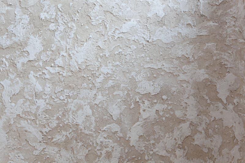 Textura del recubrimiento de paredes decorativo - castillo viejo - yeso hecho a mano fotografía de archivo