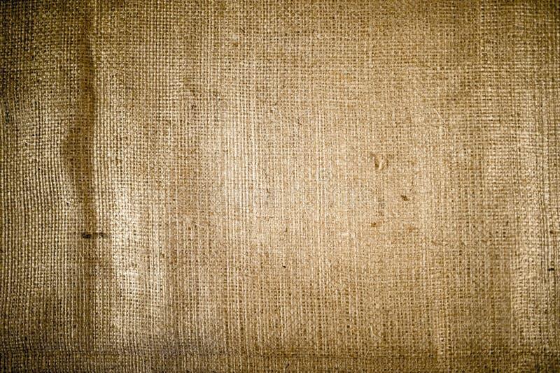 Textura del saco de Brown fotografía de archivo